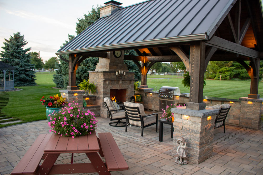 Outdoor Patio with Pavilion | See the Photos and Get a ...