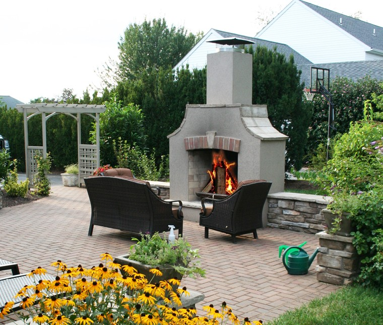 Outdoor Kitchen and Fireplace Design in Downingtown PA