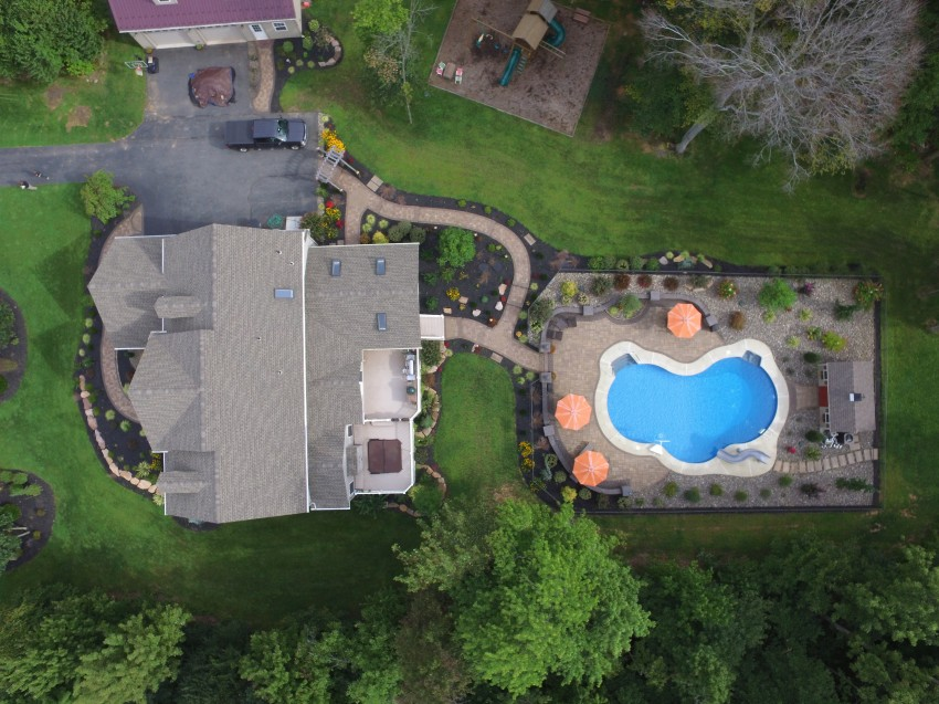 Swimming Pool Patio by Willow Gates Landscaping in Mohnton, PA