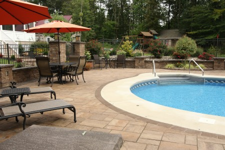 Morgantown Poolside Patio built by Willow Gates Landscaping