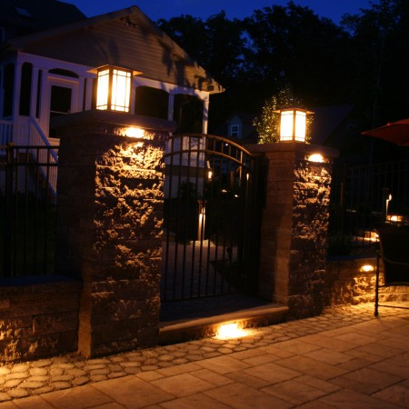 Home Backyard lighting installation in PA