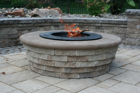 Custom Tiered Fire Pit built in Morgantown, PA