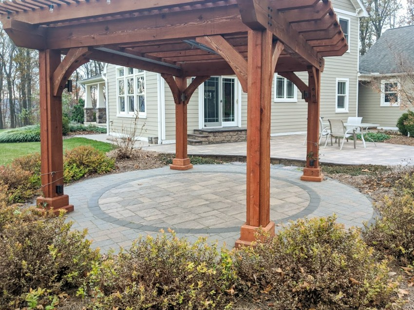 concrete paver patio