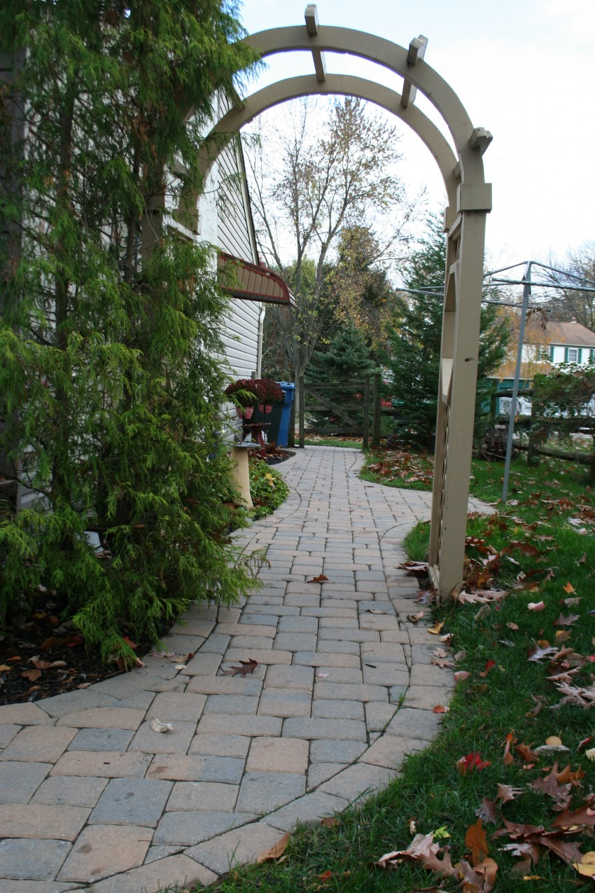 Curved Paver Walkway Installed by Local Landscaper in PA