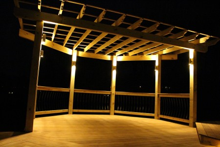 Custom Deck Pergola Designed by Willow Gates Landscaping