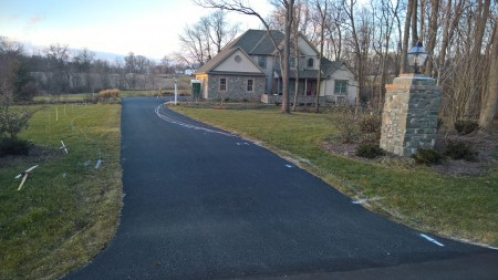 Before the Permeable Driveway Installation
