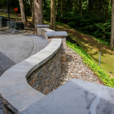 Curved Retaining Wall Project in PA