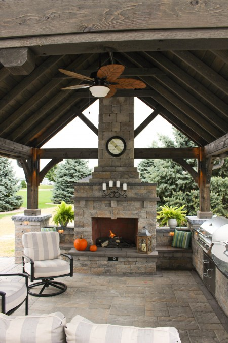 Fireplace in a Pavilion | Find a Builder