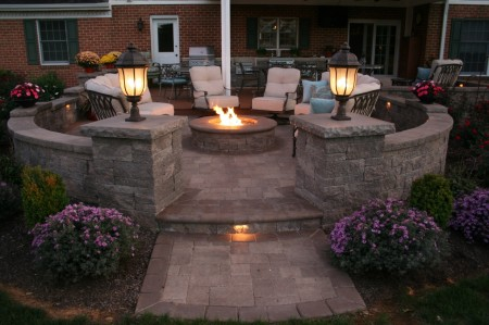 Lighted Patio Fire Pit