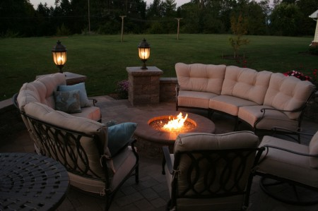 Add A Patio With A Fire Pit For More Warmth In Relationships