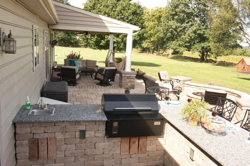 Install a Pellet Grill into your Custom Patio PA
