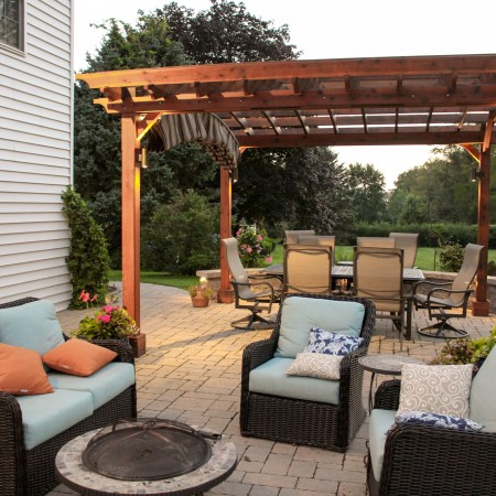 Backyard Patio Project by Willow Gates Landscaping