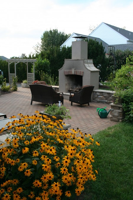 Custom Patio and Fireplace in Lancaster PA