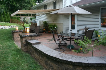 Hardscape patio installation in Chester County PA