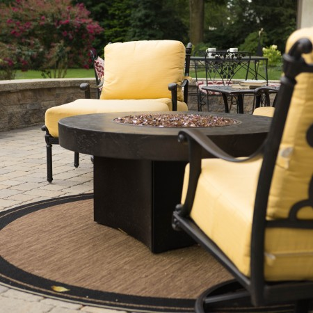 Outdoor Patio Builder with a Firepit