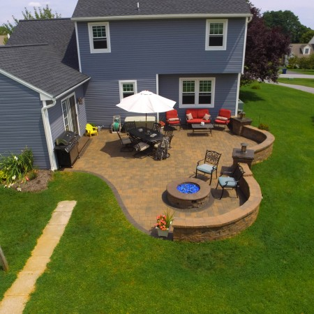 Concrete and Brick Patio Designs