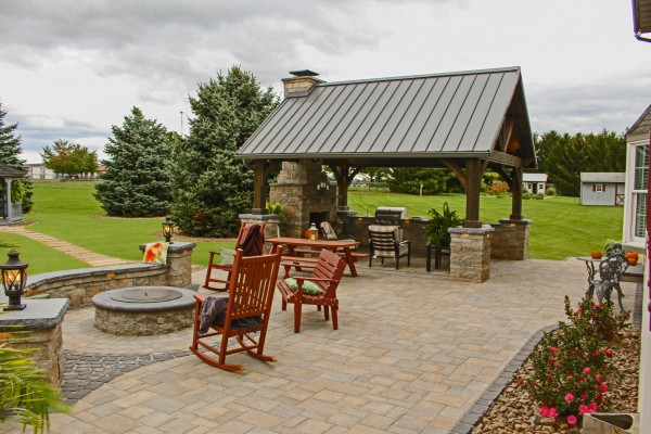 Add a Patio with a Custom Pavilion