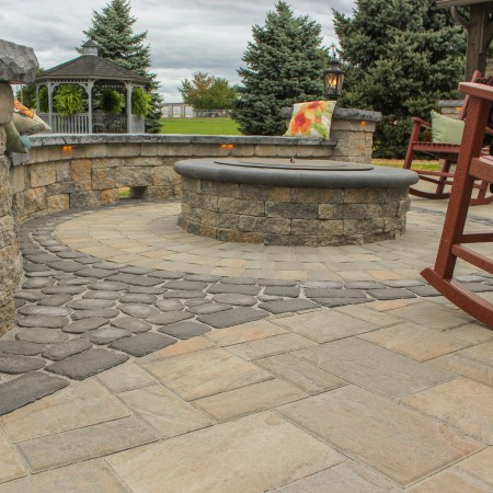 Patio with Fire Pit and Pavilion in Lancaster County, PA