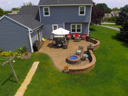 Patio with Fire Pit in Coatesville, PA