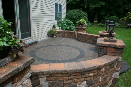 Raised Paver Patio Installation in Lancaster, PA