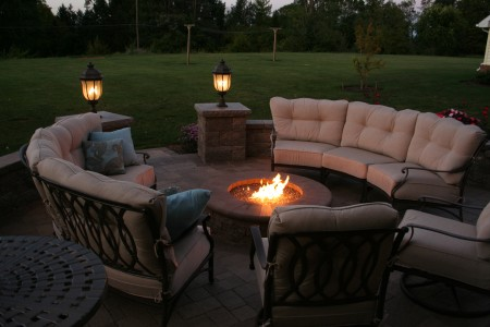 Akron PA Patio with Fire Pit | Full Service Design and Install