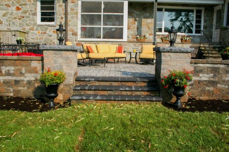 Lancaster Raised Hardscape Patio Built by Willow Gates