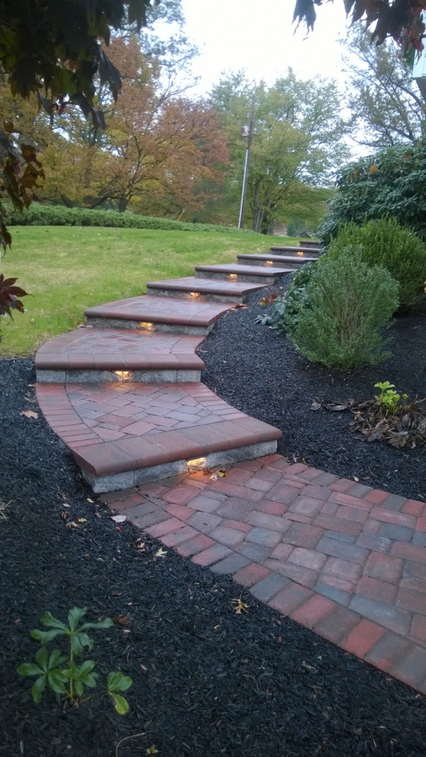 Lighted Paver Walkway