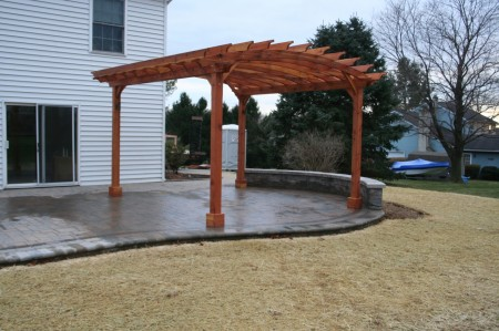 Downingtown Redwood Pergola Customized for your Landscaping