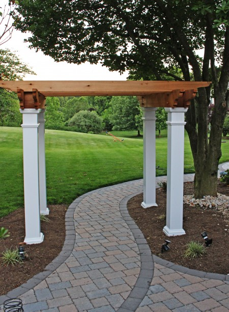 Concrete Paver Walkway with Pergola/Arbor
