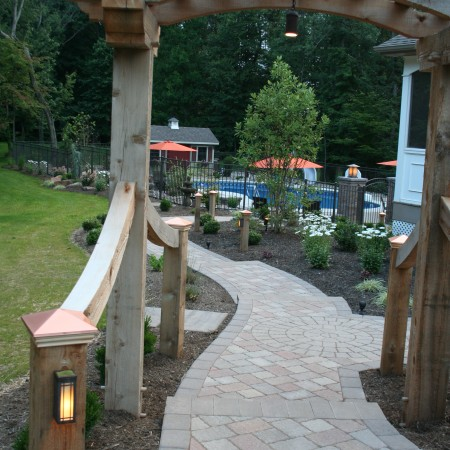 Build an Arch with a Paver Walkway