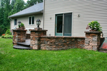 Seating wall Patio Ideas