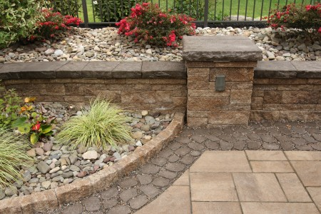 Custom Retaining Wall Patio