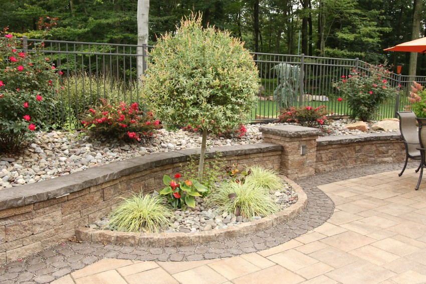 Hardscaping And Landscaping wall Patio