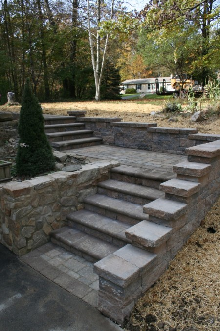 Retaining Wall with Steps Installer, Lancaster,PA