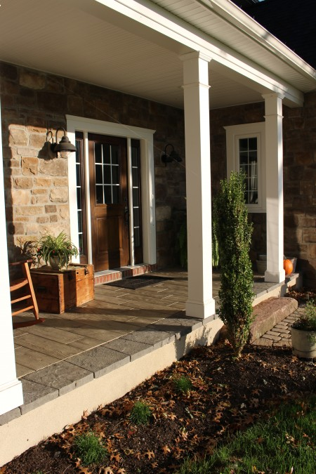 A Paver Overlay for Your Porch Adds Beauty and Value