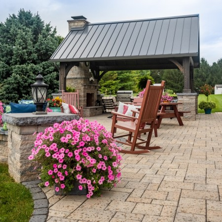 Backyard Patio with Pavilion in New Holland, PA