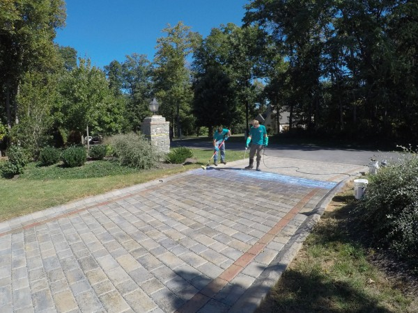 Paver Driveway Cleaning and Sealing