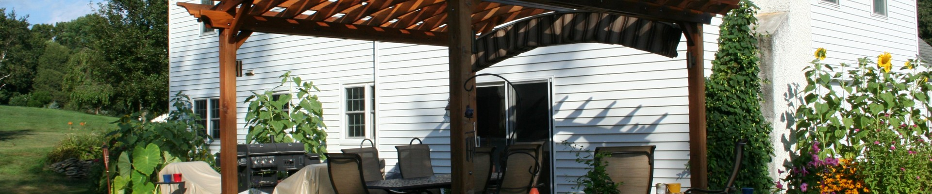 Patio designs with a Pergola