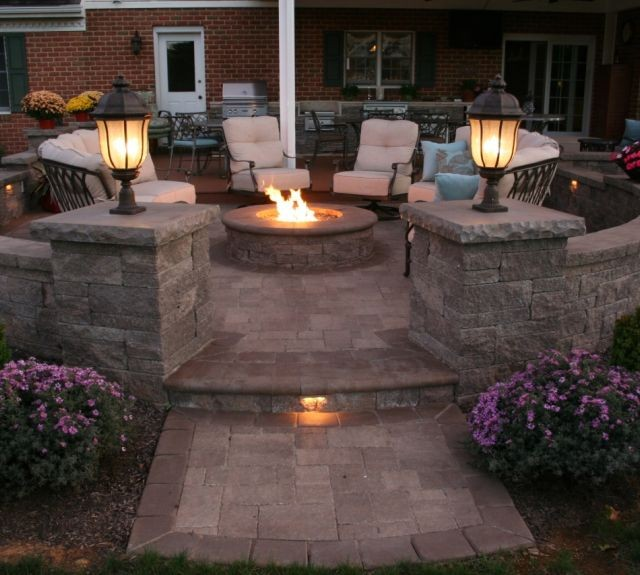 Custom Fire Pit Installed by Willow Gates