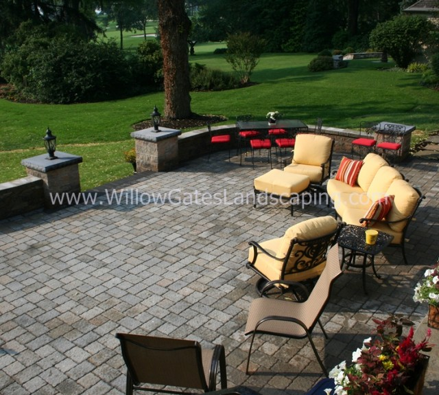 Patio Landscape Design by Willow Gates